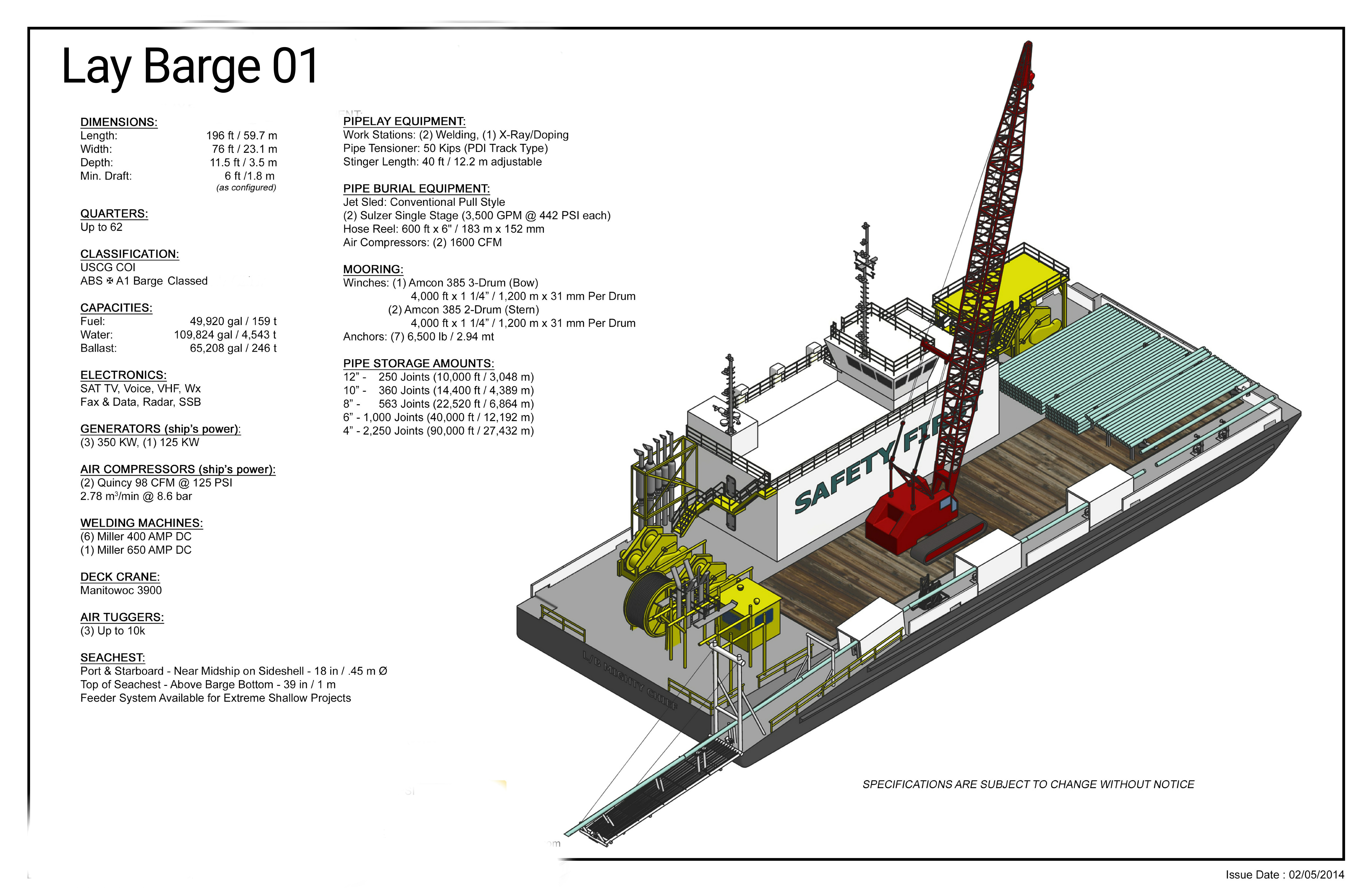 Barge Diagram - in progress the large barge cargo and